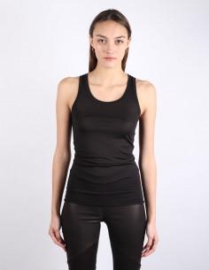 BENENATO black vest back stitching
