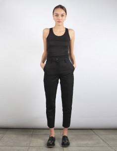 BENENATO pantalon cropped skinny noir