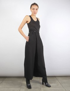BENENATO black wide leg flowing pants