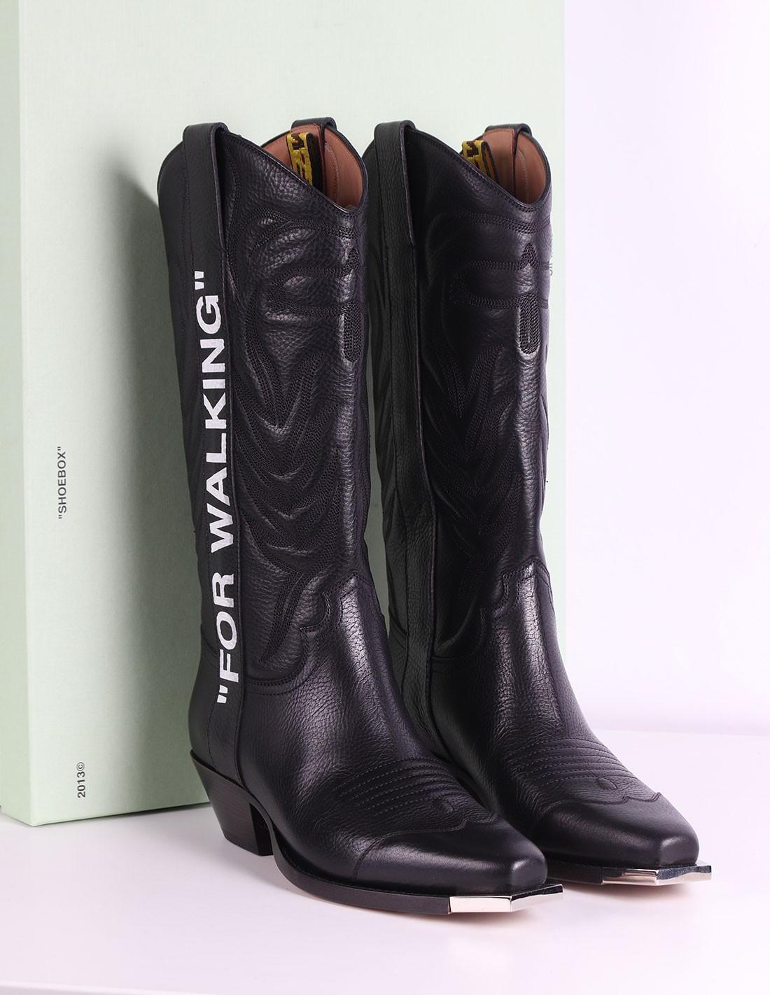 santiag black cowboy boots