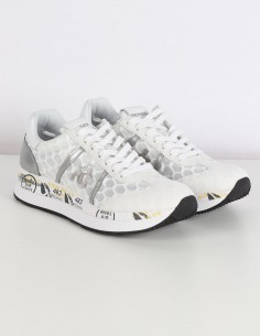PREMIATA WHITE CONNY white platform sneakers with transparent air cell