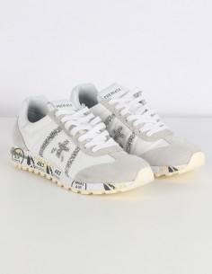 "PREMIATA ""LUCY-D"" white sneakers with flakes"