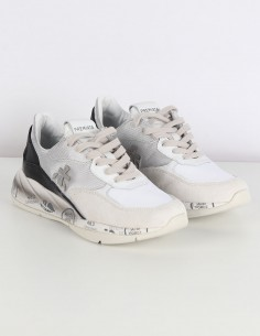 "PREMIATA WHITE ""Scarlett"" sneakers black back"