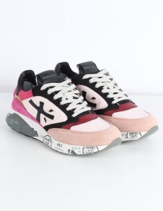 "PREMIATA ""Zac Zac D"" pink sneakers in nylon and leather"