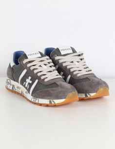 "PREMIATA ""Lucy"" grey sneakers in nylon and velvet"