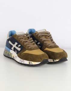 "PREMIATA ""Mick"" khaki sneakers in leather and velvet"