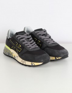 "PREMIATA WHITE ""Mick"" grey sneakers in nylon and leather"