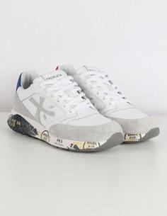"""PREMIATA WHITE """"Zac Zac"""" white sneakers in leather and suede"""