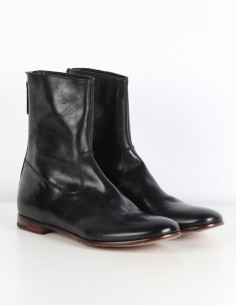 "PREMIATA ""30423"" black boots in leather with back zip"