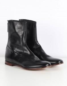 """PREMIATA Boots """"30423"""" avec zip arrière en cuir noir"""