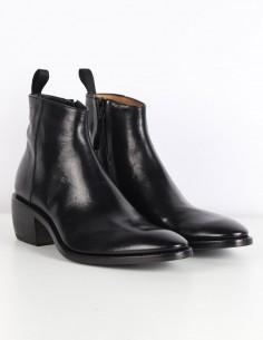 """PREMIATA Boots """"31629"""" avec talonnette en cuir noir"""
