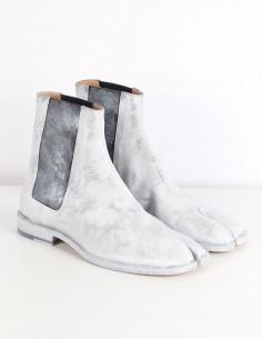 MAISON MARGIELA Chelsea Tabi boots blanches peintes