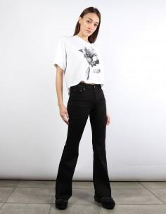 MM6 jean flare noir à plis