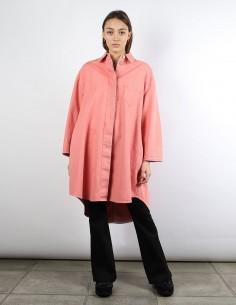 MM6 pink shirt-dress in denim
