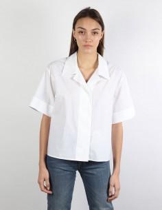 MM6 white short-sleeved shirt