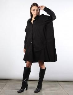 MM6 robe chemise noire volants au dos