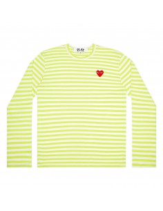 COMME DES GARCONS PLAY green sailor long sleeves tee with red heart logo