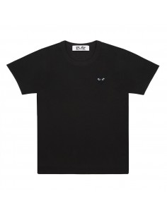 CDG COMME DES GARCONS PLAY - black tee shirt with black heart logo