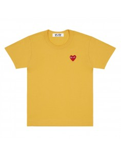 CDG COMME DES GARCONS PLAY - yellow shirt with red heart logo