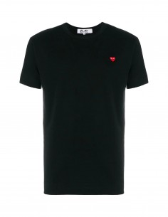 CDG COMME DES GARCONS PLAY - black shirt with mini red heart logo