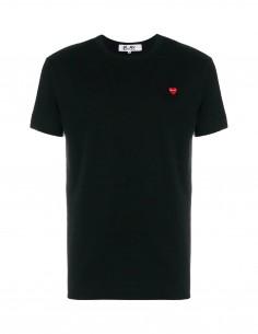 CDG COMME DES GARCONS PLAY - T-shirt noir à mini patch logo coeur rouge