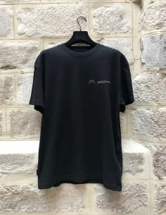 A-COLD-WALL oversized black tee shirt with chest logo
