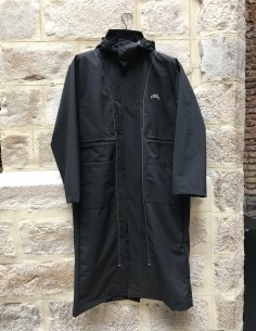 A-COLD-WALL long black windbreaker with hood
