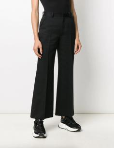 MAISON MARGIELA pantalon noir de coupe large avec plis