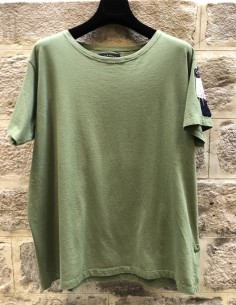 PAUL & SHARK x GREG LAUREN khaki tee-shirt with logo patch