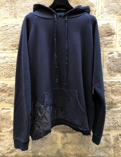 PAUL & SHARK x GREG LAUREN bi-material navy hoodie