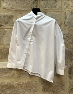 TOTEME 'Noma' officer collar asymmetrical shirt