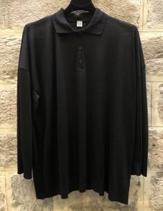 TOTEME Barzio long sleeves black polo