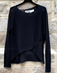 ISABEL BENENATO asymmetrical long sleeve sweater