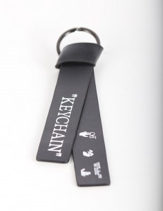 """OFF WHITE """"KEYCHAIN"""" with leather ties"""