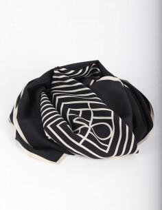 TOTEME Venezia black silk scarf