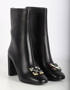 """Boots """"Arrow"""" Off-White noires à talon"""