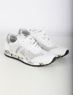 Sneakers blanches 'Lucy' ajouré détail argent PREMIATA WHITE