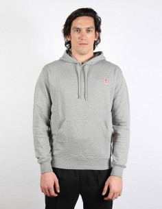 AMI PARIS grey hoodie sweater with small AMI logo