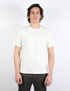 T-shirt écru avec découpe ondes ISABEL BENENATO pour homme