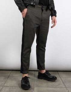 isabel benenato men Khaki pants with side stripes