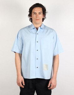 OAMC 'Kurt' short sleeves blue shirt with tag patch