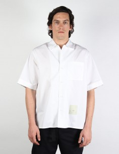OAMC 'Kurt' short sleeves white shirt with tag patch