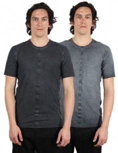 ISAAC SELLAM Two-sides grey tee