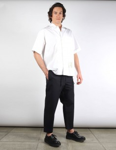 OAMC 'Regs' navy straight pants with zip and belt