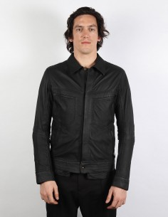 ISAAC SELLAM EXPERIENCE Saddle stitch leather jacket for men