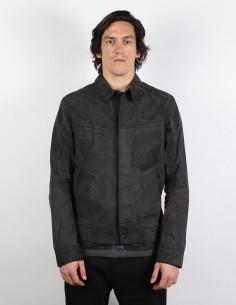 ISAAC SELLAM EXPEREINCE for men Saddle stitch washed cotton jacket