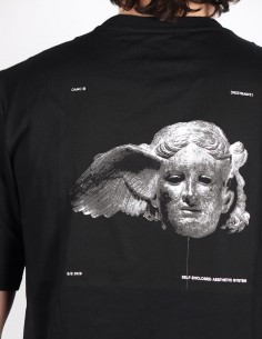 "OAMC ""Traum"" black tee shirt with Hypnos print on back"