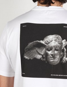 "OAMC ""Traum"" white tee shirt with Hypnos print on back"
