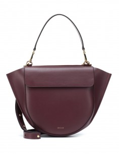 """Hortensia"" leather bag in burgundy WANDLER"