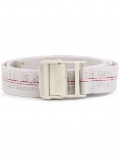 Off-White industrial belt in white